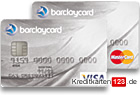Barclaycard Platinum Visa MasterCard Kreditkarten