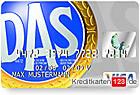 DAS Rechtsschutz Versicherung Visa Card Kreditkarte