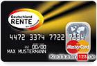 Deutschland Rente MasterCard Kreditkarte 2 Jahre kostenlos
