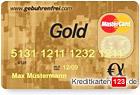 Gebuehrenfrei MasterCard Gold kostenlose Kreditkarte