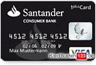 schwarze kreditkarte santander 1plus visa card im. Black Bedroom Furniture Sets. Home Design Ideas