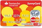 Santander SunnyCard MasterCard Kreditkarte kostenlos