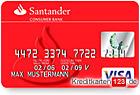 Santander Visa Card Classic Kreditkarte im Vergleich online